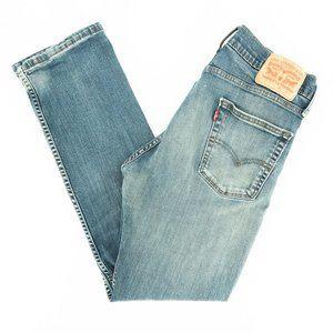 Levi's 513 Jeans Slim Straight Denim Blue Sz 30x27